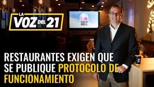 Gremios de Restaurantes del Perú exigen que se publique protocolo de funcionamiento