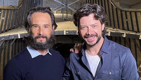 """Álvaro Morte y Rodrigo Santoro se unen para trabajar en la serie """"Sin límites"""". (Foto: @rodrigosantoro)"""