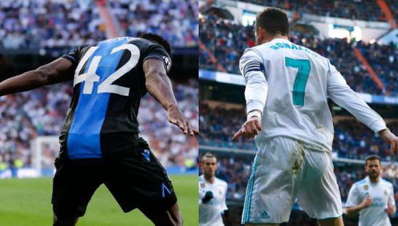 Emmanuel Dennis anotó un doblete a Real Madrid en el Estadio Santiago Bernabéu. (Foto: AFP)