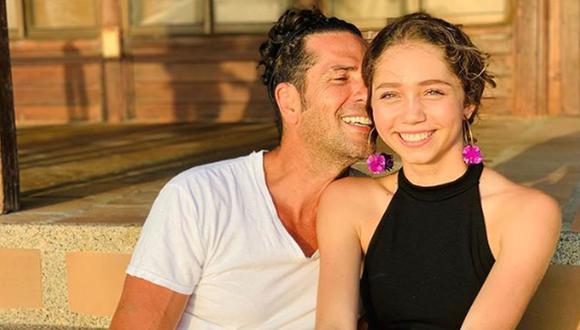 Gregorio Pernía junto a su única hija, Luna del Mar (Foto: Luna del Mar / Instagram)