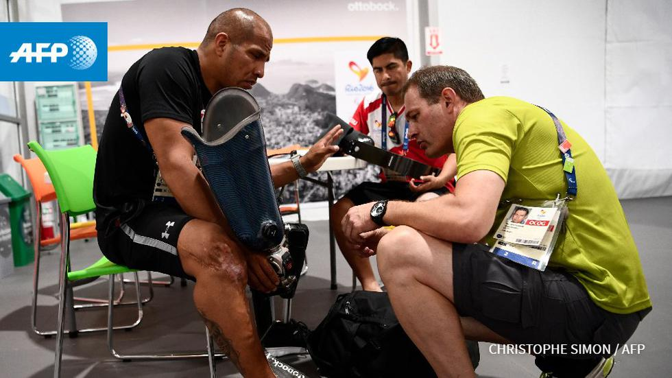 Es el lugar ideal para reparar las prótesis de los atletas. (AFP)