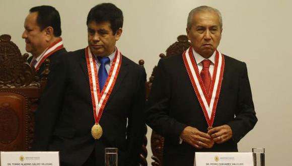 Los fiscales supremos Tomás Gálvez y Pedro Chávarry son sindicados de integrar la red de los Cuellos Blancos. (Foto: GEC)