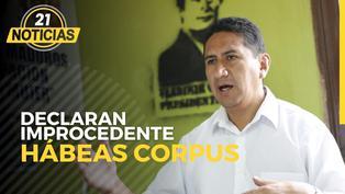 Vladimir Cerrón: Declaran improcedente hábeas corpus