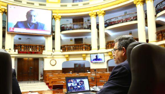 El presidente de Congreso, Manuel Merino, dio por concluida la sesión pasada la 1:00 am. (Foto: Congreso de la República)