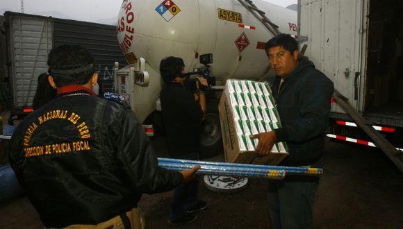 POR CONTRABANDO. La Policía de Carreteras intensifica acciones para detectar cargas de pirotécnicos. (USI)