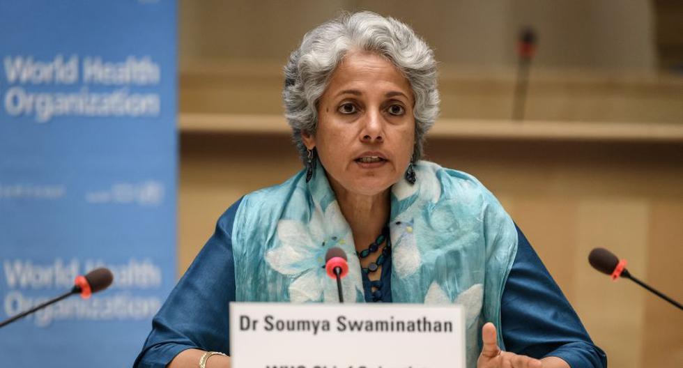 Imagen de la científica en jefe de la OMS, Soumya Swaminathan. (Foto: Fabrice COFFRINI / POOL / AFP).
