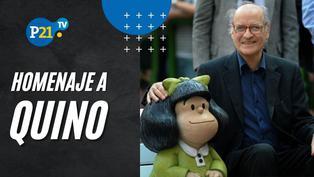 Homenaje a Quino por Mechaín, Omar Zevallos y Mario Molina