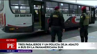 Panamericana Sur: asalto dentro de bus dejó un policía y tres pasajeros heridos