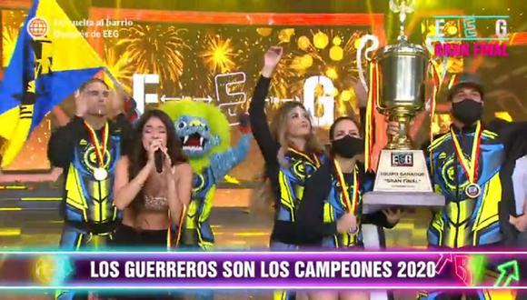 """'Los Guerreros' son los campeones de """"Esto es guerra"""" 2020. (Foto: Captura América TV)"""