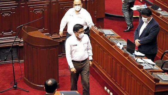 Ministros se presentaron ante el Pleno el mismo día que pidieron las facultades. (GEC)