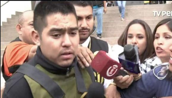 Osorio Mujica fue conducido a la Fiscalía de Huaraz para las interrogaciones e investigaciones del caso. (TVPerú)