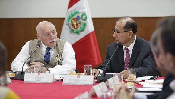 El JNE se compromete también  a efectuar las coordinaciones necesarias para que la  misión de la OEA acceda a toda la información. (Foto: JNE)