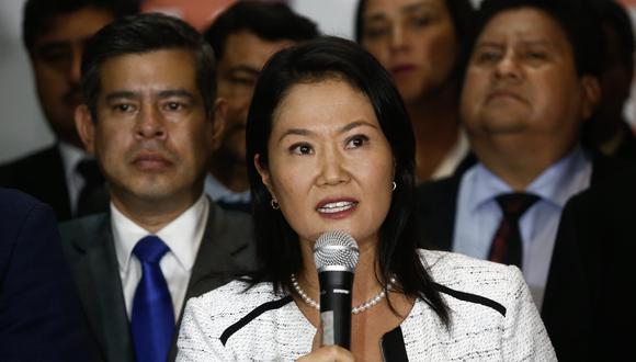 Keiko Fujimori niega haberse reunido con César Hinostroza. (FOTO: USI)