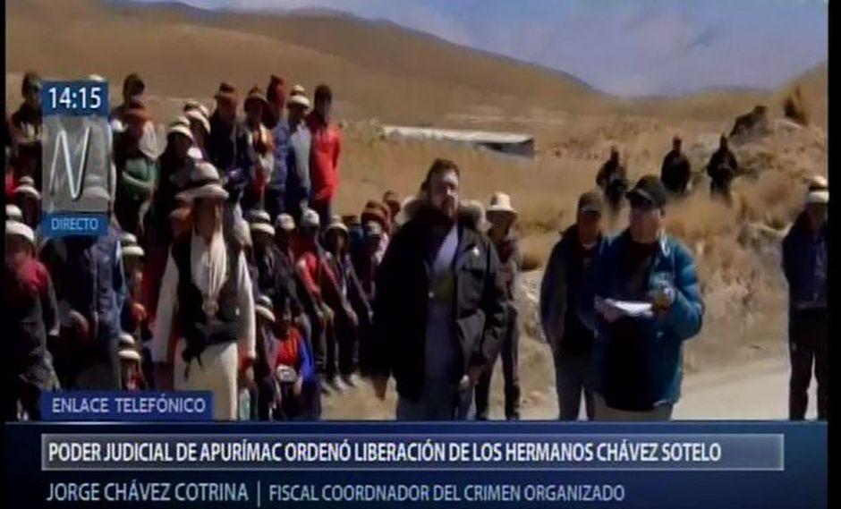 Cotrina indicó que una de las restricciones para los hermanos Frank y Jorge Chávez Sotelo es no tener contacto con sus coinvestigados. (Foto: Captura Canal N)