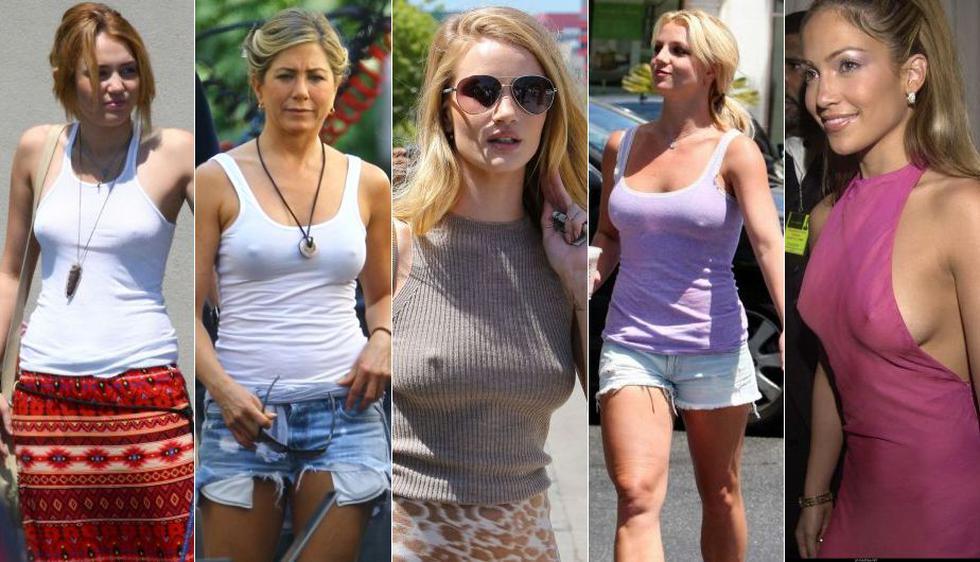 Miley Cyrus, Jennifer Aniston, Rosie Huntington-Whiteley, Britney Spears y Jennifer López. (Internet)
