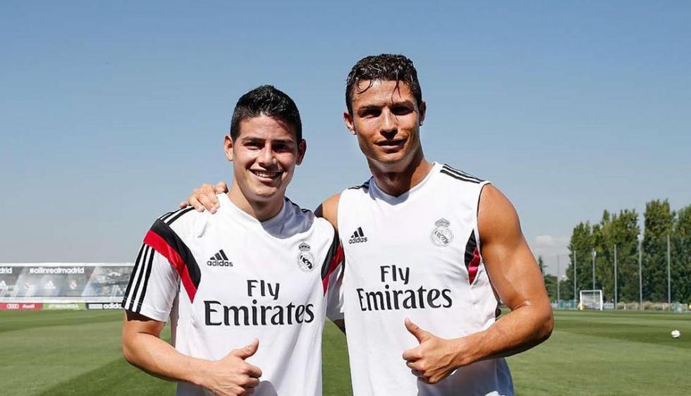 James Rodríguez y Cristiano Ronaldo. (Real Madrid)