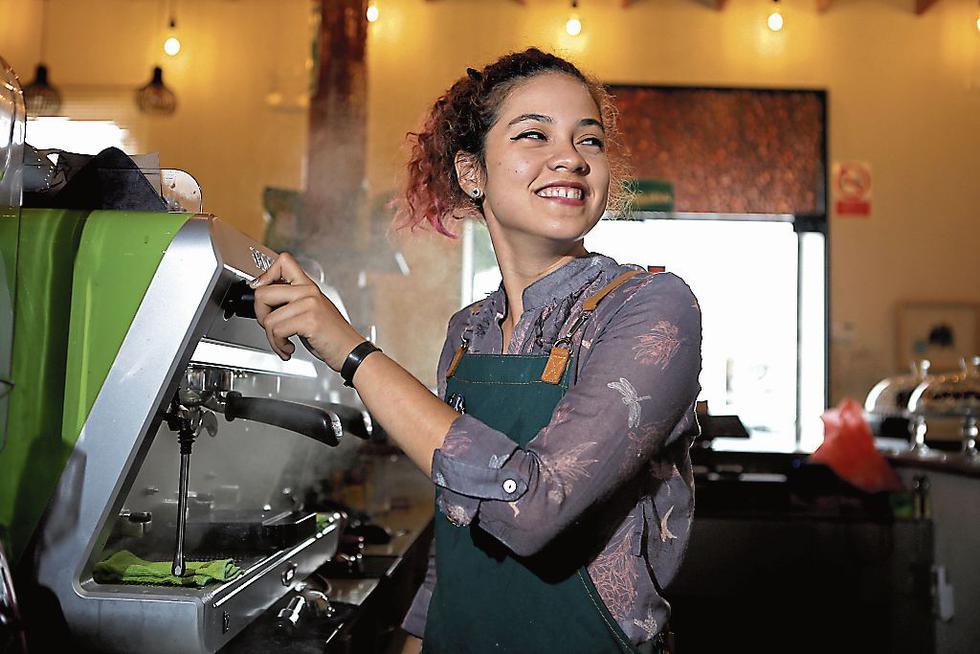 PASIÓN. Ann Le Grand es barista en Modo Café de San Isidro.