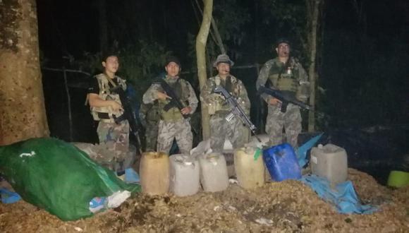 Fuerzas combinadas del Ejército y la Policía Nacional participaron en el operativo. (Foto: Ministerio de Defensa)