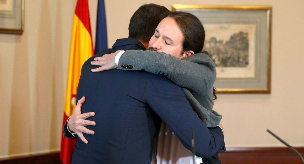 Sánchez, Iglesias y divorcios. (EFE/Paco Campos).