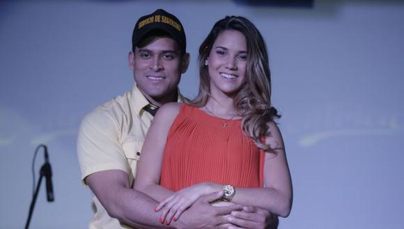 Actúan Christian y María Grazia. (Alberto Orbegoso)