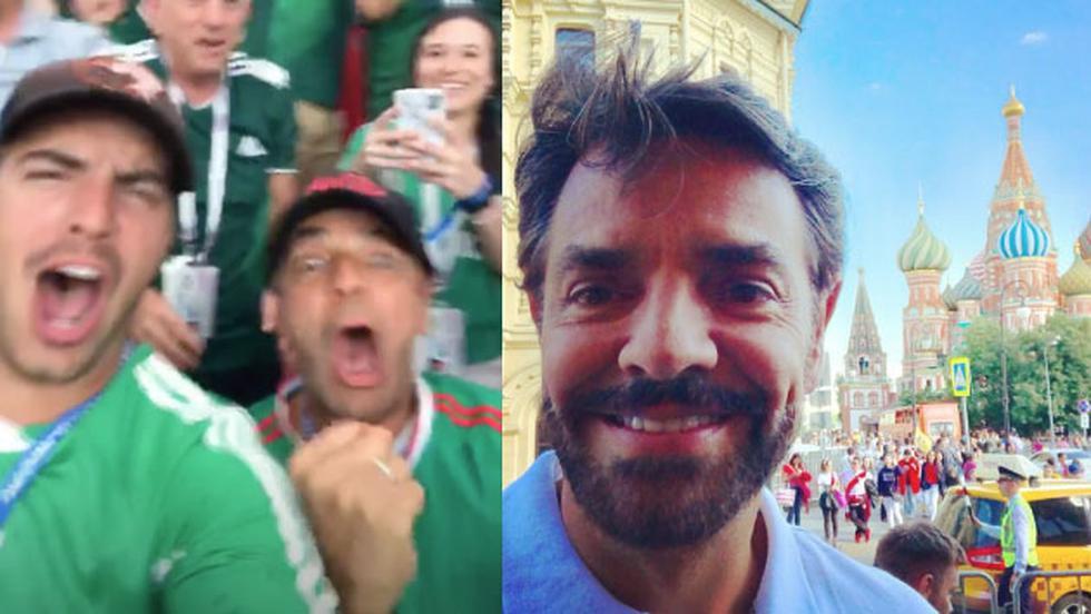 Eugenio Derbez viajó hasta Rusia junto a su hijo. (@ederbez)