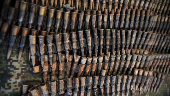 Municiones serían para FARC. (AFP)