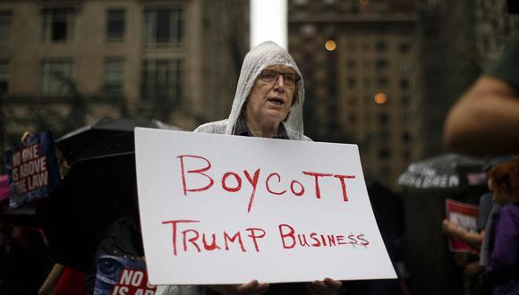 La gestión de Donald Trump ha impactado en las empresas que llevan su nombre. (Foto: AP)