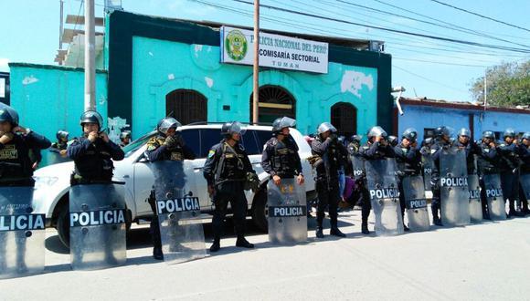 La Policía seguirá resguardando la localidad chiclayana de Tumán.