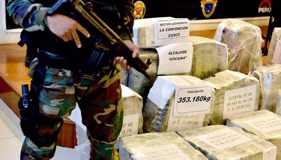 Tráfico ilícito de drogas también será penado con muerte civil. (Foto: Andina)