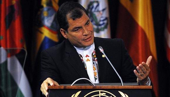 Rafael Correa dijo que Ecuador no perjudicó a Chile en La Haya. (EFE)