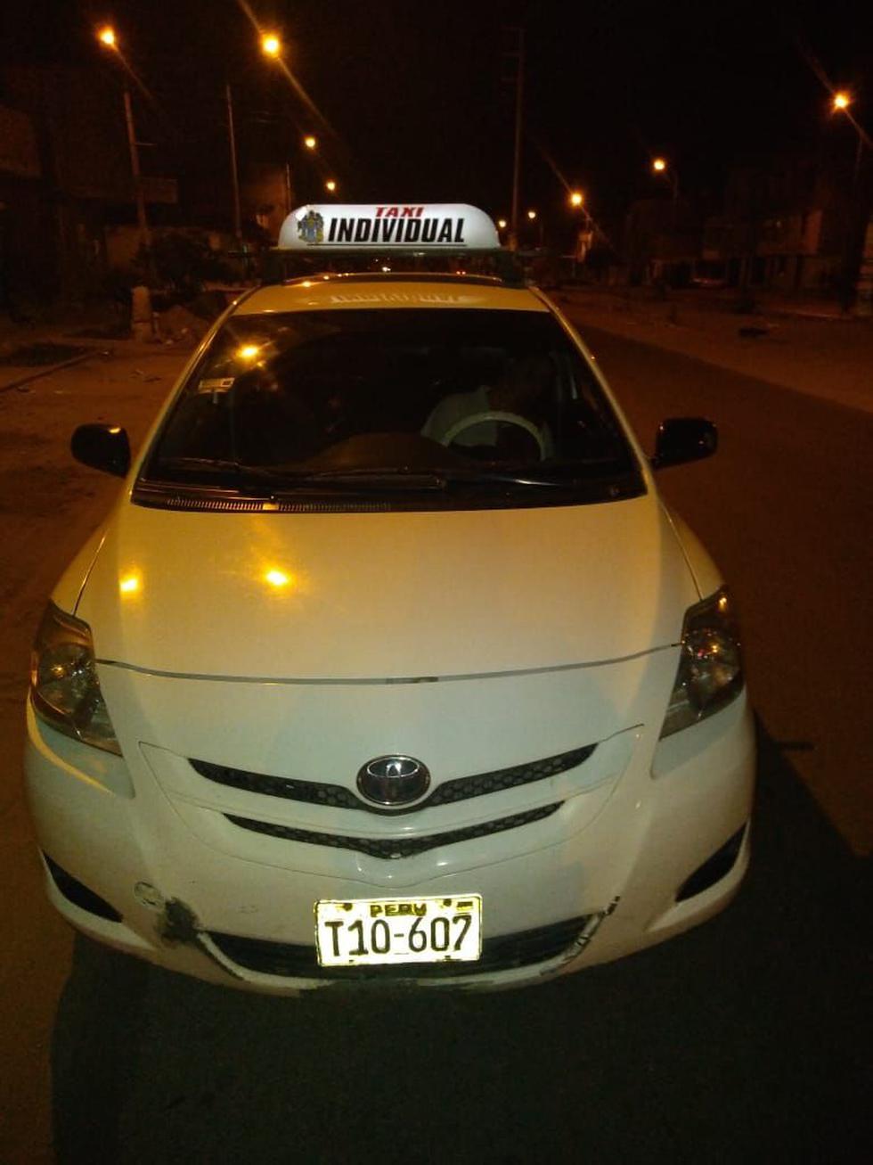 Sicarios asesinaron a un taxista dentro de su auto en el distrito de La Esperanza, en Trujillo.