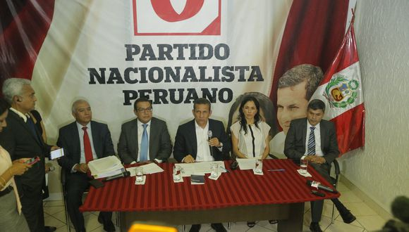 Ollanta Humala y Nadine Heredia, investigados y cumpliendo prisión preventiva, son los líderes del Partido Nacionalista. (Luis Centurión)