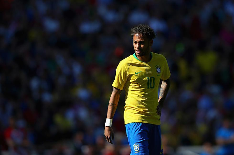 Con Neymar como referente, la selección brasileña se prepara para su participación en el grupo E del Mundial, donde se medirá con Costa Rica, Suiza y Serbia. (GETTY IMAGES)