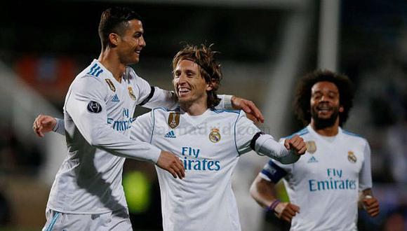 Luka Modric y Cristiano Ronaldo jugaron juntos en el Real Madrid hasta la temporada 2018/19. (Foto: AFP)