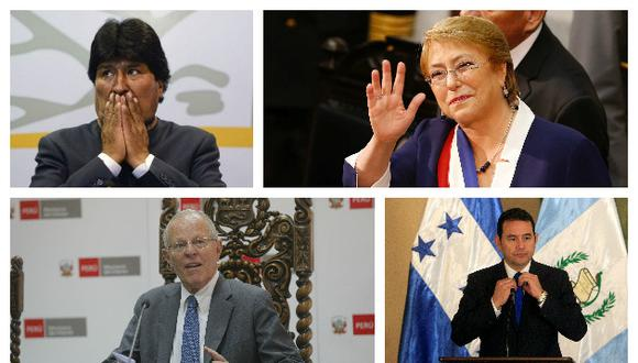 Evo Morales es el presidente que menos sueldo percibe a comparación de PPK, Bachelet y Jimmy Morales(Perú21/Trome/Reuters).