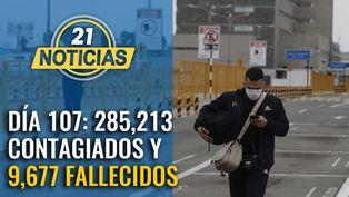 Cifra de contagiados sube a 285,213  y 9,677 fallecidos