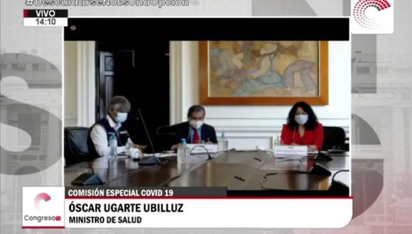 Violeta Bermúdez se presentó ante el Congreso en la comisión COVID-19. (Congreso de la República)
