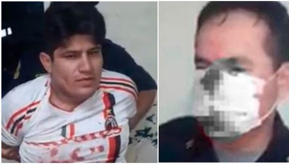 Poder Judicial del Cono Norte dictó 9 meses de prisión preventiva contra agresor David Arnold Díaz Rodríguez. (Composición)
