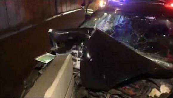 El exceso de velocidad sería la causa del despiste de los vehículos. (TV Perú)