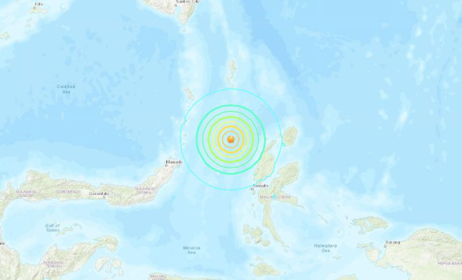 Terremoto magnitud 7,0 sacude Indonesia. (Foto: USGS).