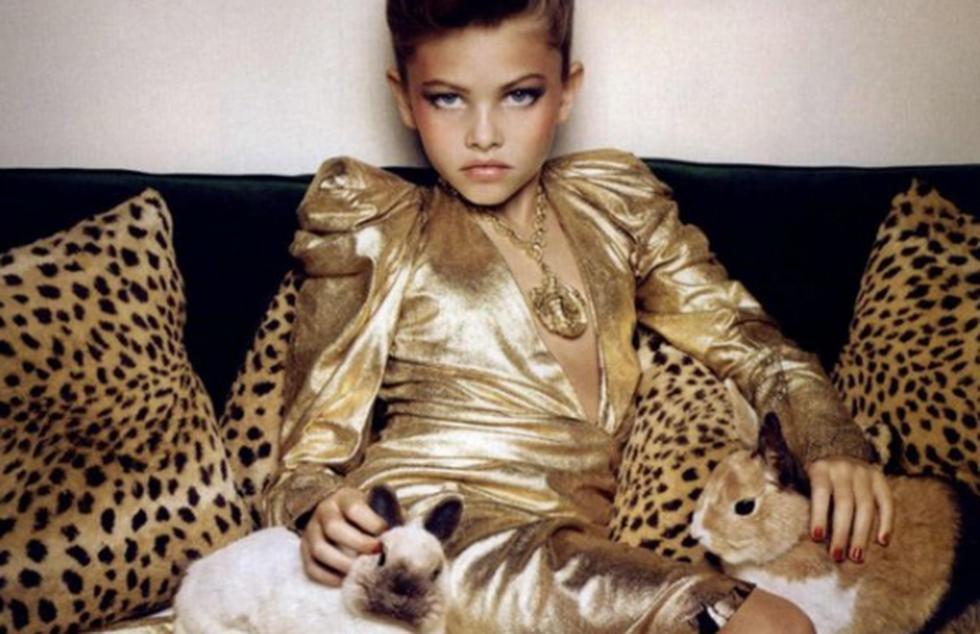 Una de las fotografías que a Thylane Blondeau al estrellato. (Revista MegaStyle)
