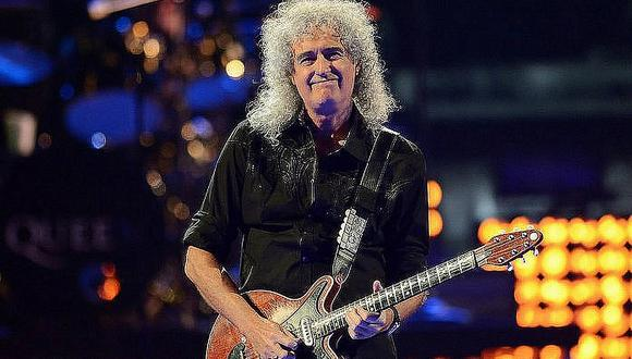 El guitarrista de Queen cautivó a todos los que lo escucharon en el estudio de grabación. (Foto: EFE)