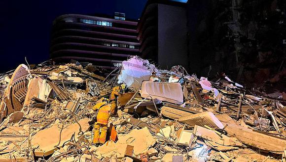 El trabajo de los rescatistas en el edificio colapsado en Miami-Dade, en EE.UU. (Foto: Miami Dade Fire Rescue)