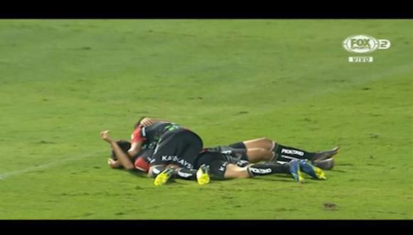 Palestino remontó el partido con doblete de Renato Tarifeño. (Captura: Fox Sports)