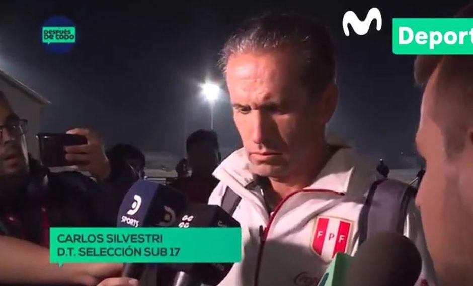 Carlos Silvestri y su decepción tras quedar fuera del Mundial Sub 17. (Video: Movistar Deportes)