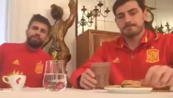Gerard Piqué e Iker Casillas realizaron un divertido Periscope. (YouTube)