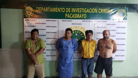 Los sospechosos fueron derivados al Depincri de Pacasmayo