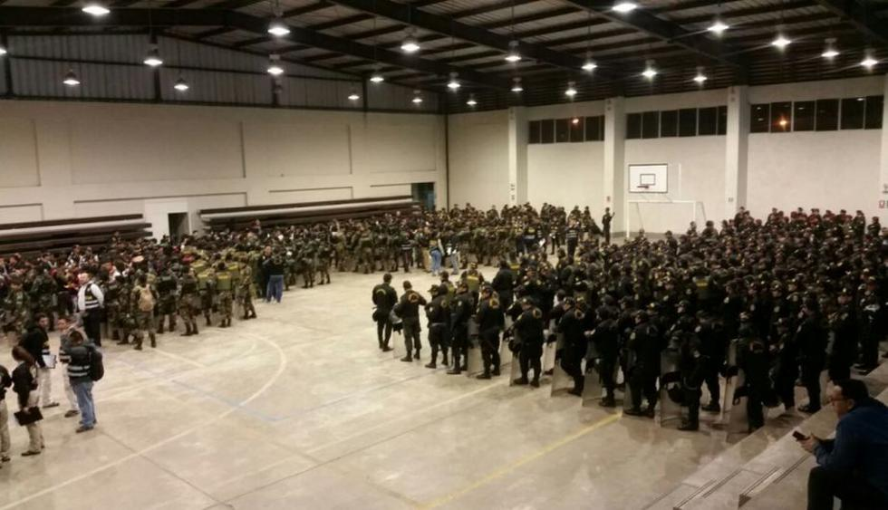 Alrededor de 1,200 agentes participaron en el operativo (Twitter:@Mininter)