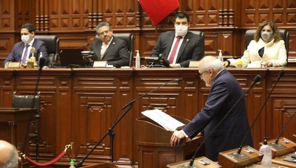 Primer ministro Cateriano se presentó ante el Congreso pero no logró el voto de confianza. Foto: Facebook Congreso de la República