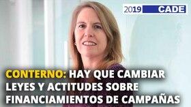 Elena Conterno: Hay que cambiar leyes y actitudes sobre financiamiento de campañas [VIDEO]